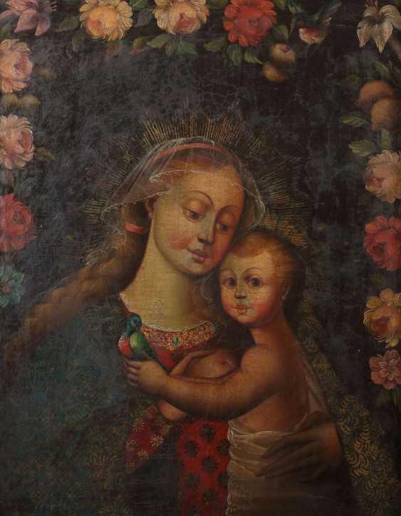 Sakralmaler des 18./19. Jahrhundert wohl Spanien. ''Maria lactans'' - photo 1