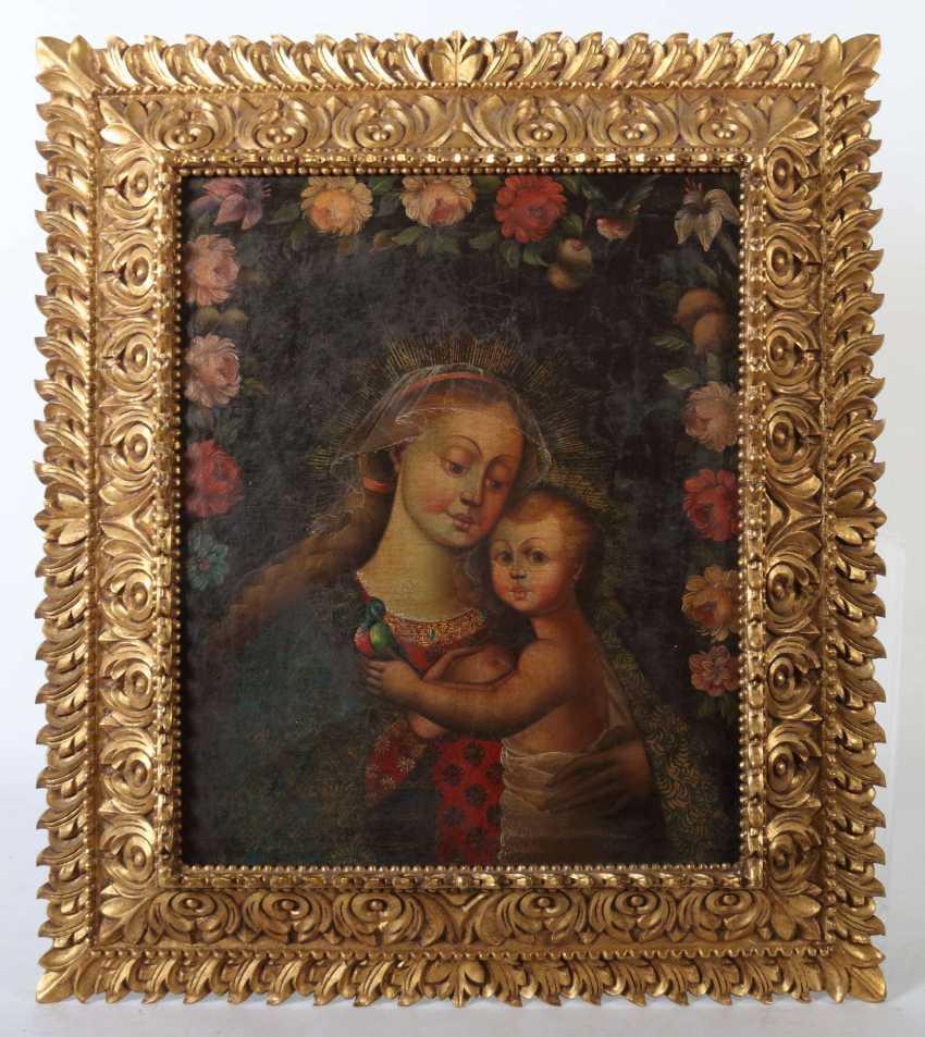 Sakralmaler des 18./19. Jahrhundert wohl Spanien. ''Maria lactans'' - photo 2