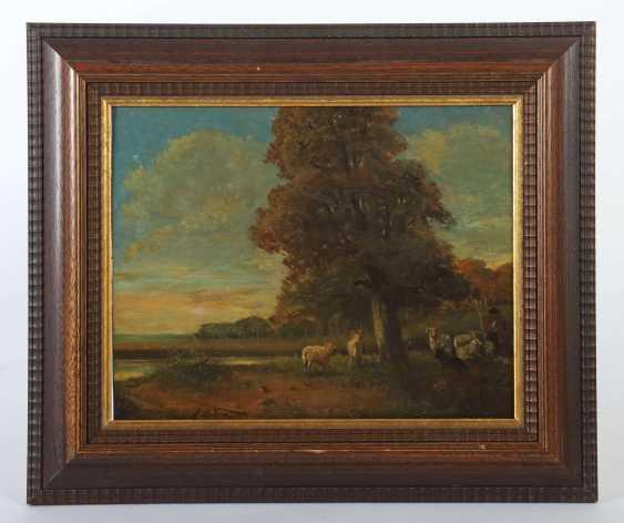 Maler des 19. Jahrhundert ''Schäfer mit seiner Herde'' - photo 2