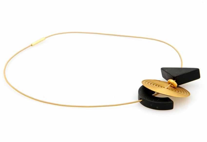 NIESSING choker yellow gold 18 K with various Einhängern; - photo 3
