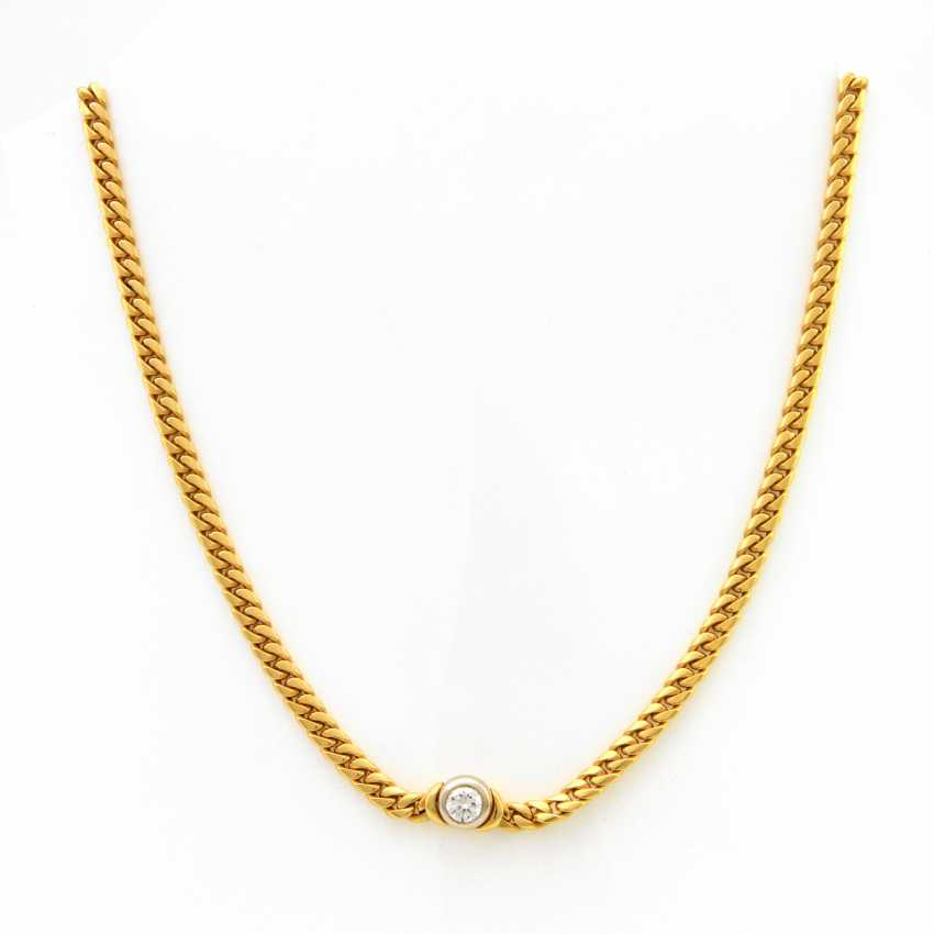 Necklace Yellow Gold / 18 K White Gold - photo 1