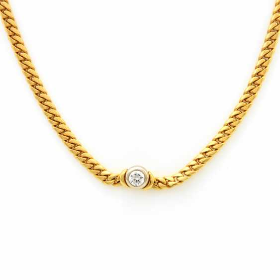 Necklace Yellow Gold / 18 K White Gold - photo 2