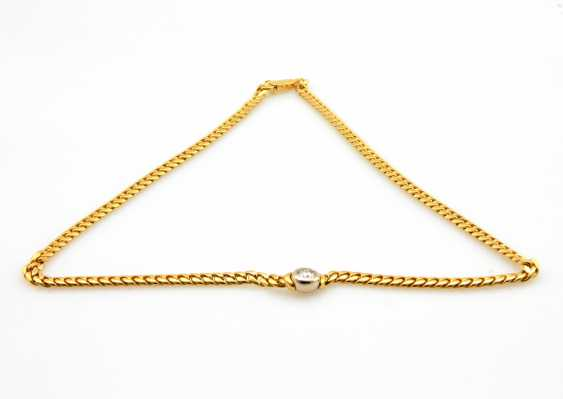 Necklace Yellow Gold / 18 K White Gold - photo 4