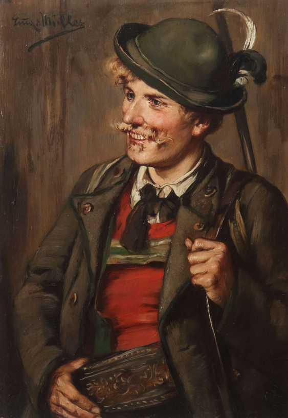 Müller, Emma von (Emma Müller, Edle von Seehof), Innsbruck 1859 - 1925 München, Genre- und Portraitmalerin in München, Defregger-Schülerin. ''Portrait eines Jägers'' - photo 1