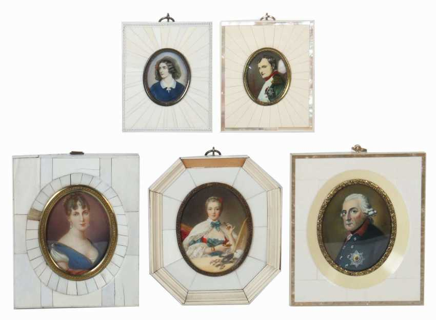 Miniaturmaler des 20. Jahrhundert Konvolut Portraits prominente Persönlichkeiten - photo 1