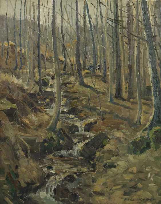 Umgelter, Hermann Stuttgart 1891 - 1962, Maler in Stuttgart-Botnang, Stud. in München. ''Waldinneres'' - photo 1