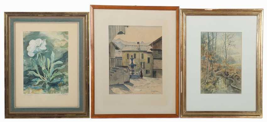 Umgelter, Hermann Stuttgart 1891 - 1962, Maler in Stuttgart-Botnang, Stud. in München. 3 Landschaftdarstellungen - photo 1