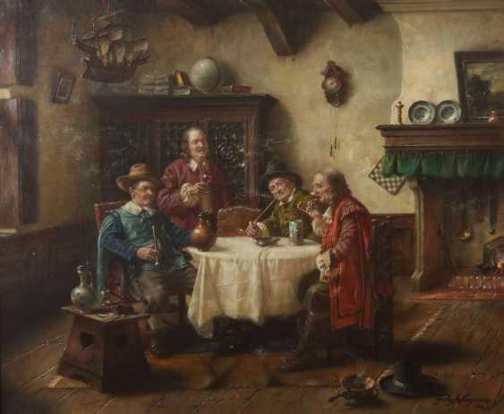 Wagner, Fritz München 1896 - 1939 ebenda, war Maler in Frauenchiemsee. ''Herrenrunde'' - photo 1