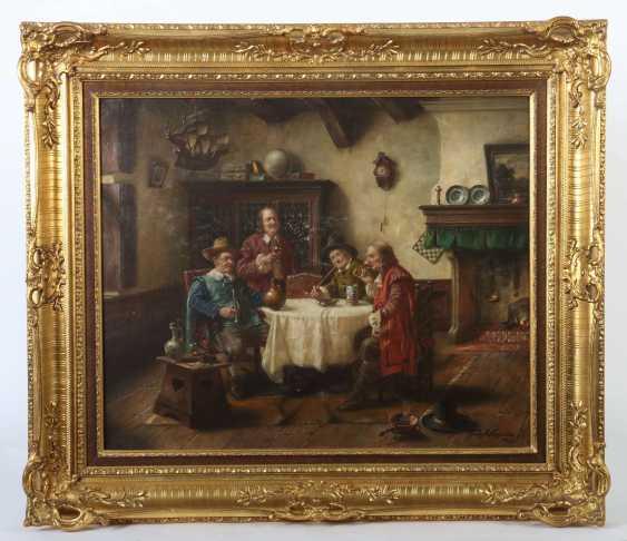 Wagner, Fritz München 1896 - 1939 ebenda, war Maler in Frauenchiemsee. ''Herrenrunde'' - photo 2