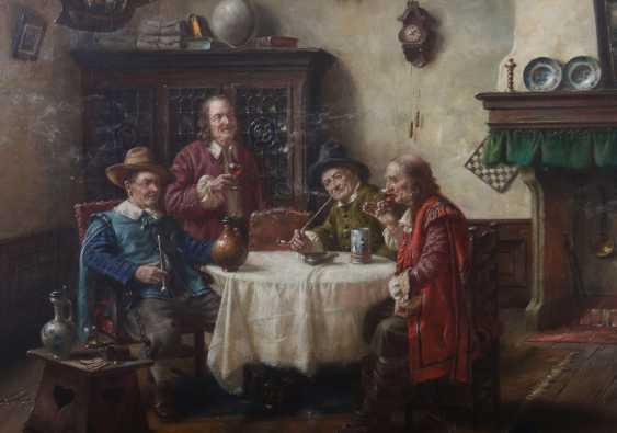 Wagner, Fritz München 1896 - 1939 ebenda, war Maler in Frauenchiemsee. ''Herrenrunde'' - photo 3