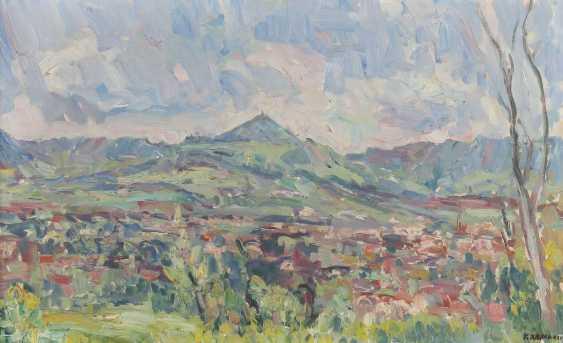 Weber, Karl 1899 - 1978, Landschaftsmaler. ''Albtrauf'' - photo 1