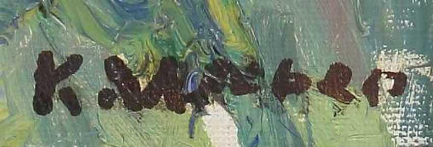 Weber, Karl 1899 - 1978, Landschaftsmaler. ''Albtrauf'' - photo 3