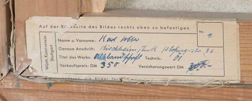 Weber, Karl 1899 - 1978, Landschaftsmaler. ''Albtrauf'' - photo 5