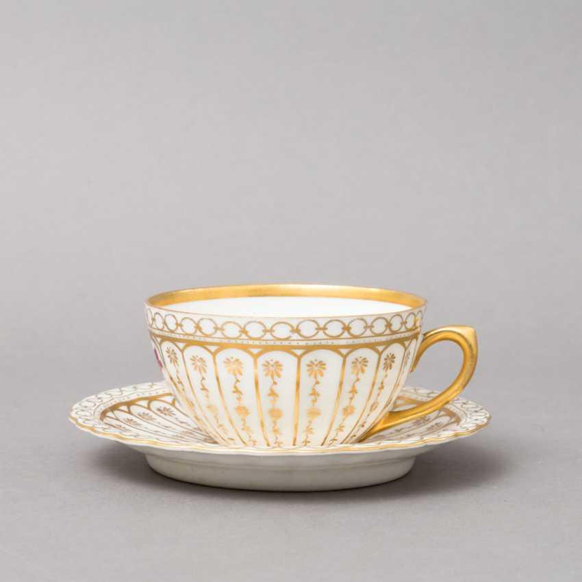 C. M. BAUER&PFEIFFER Schorndorf coffee-tea service f. 5 persons 'decor Ludwigsburg', brands of 1904-1918. - photo 4