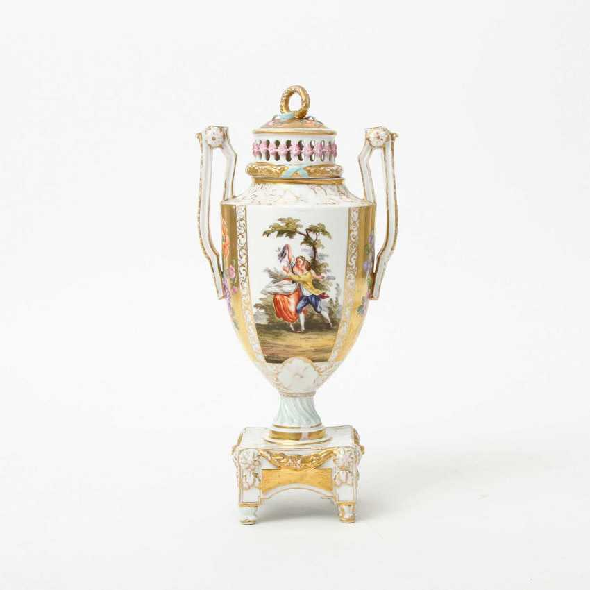 Probably the JOSEPH BOX Sophienau Potpourri Vase, early 20th. Century - photo 2