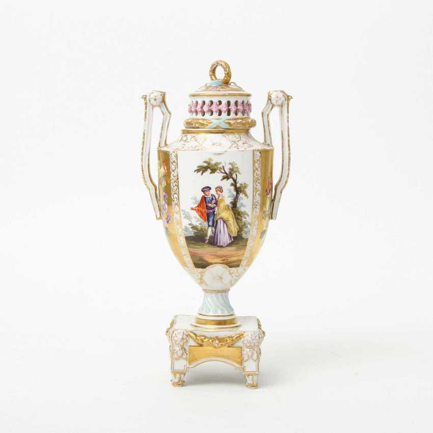 Probably the JOSEPH BOX Sophienau Potpourri Vase, early 20th. Century - photo 4