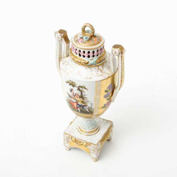 Probably the JOSEPH BOX Sophienau Potpourri Vase, early 20th. Century - photo 6