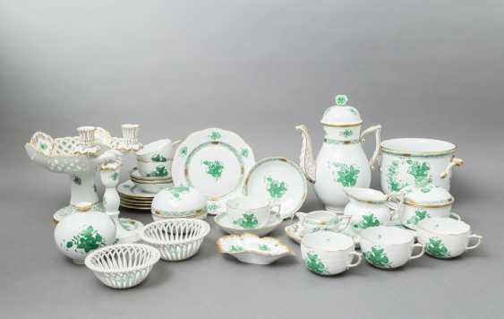 HEREND coffee service for 5 persons 'Apponyi green', 20. Century - photo 1