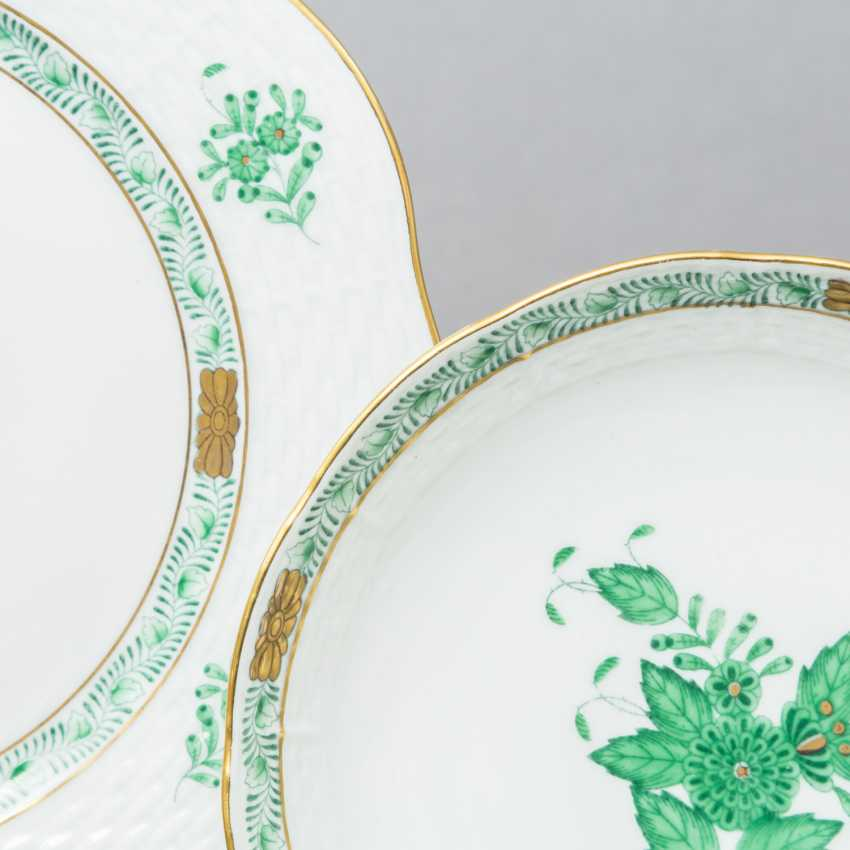 HEREND coffee service for 5 persons 'Apponyi green', 20. Century - photo 2