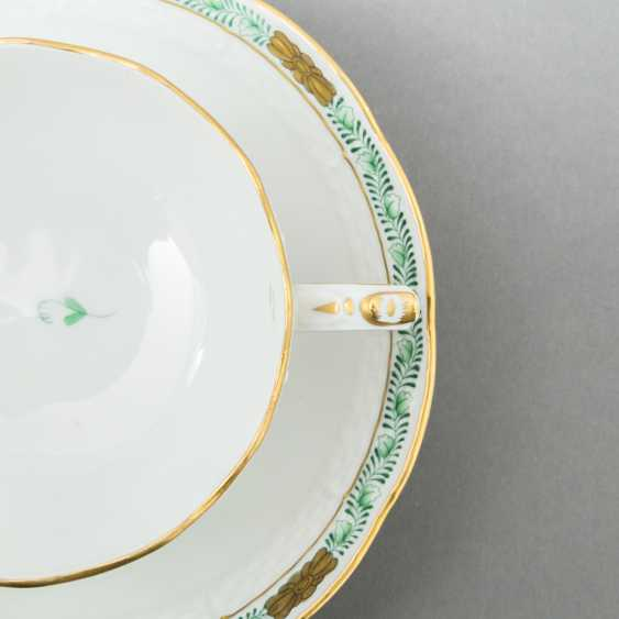 HEREND coffee service for 5 persons 'Apponyi green', 20. Century - photo 4