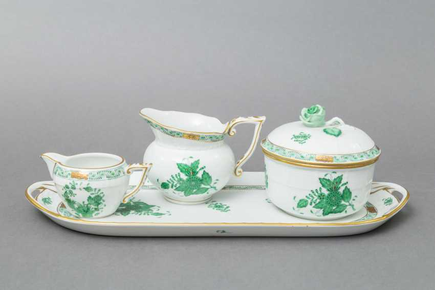 HEREND coffee service for 5 persons 'Apponyi green', 20. Century - photo 5