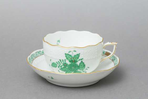 HEREND coffee service for 5 persons 'Apponyi green', 20. Century - photo 6