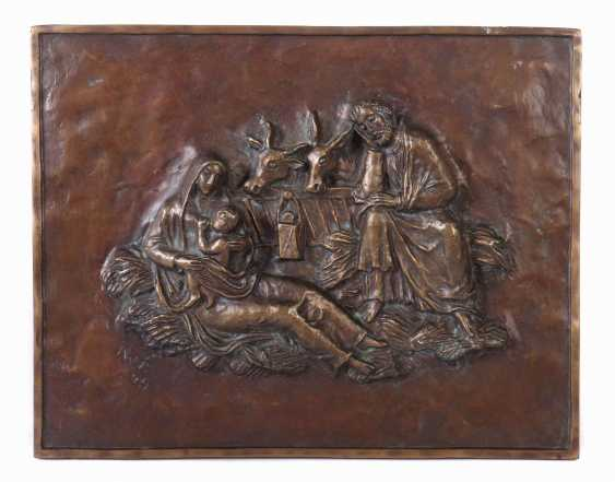 "Fehrle, Jakob Wilhelm Schwäbisch Gmünd 1884 - 1974 ibid., Sculptor, painter and draftsman, student at the academy in Berlin and Munich, private student of Gaul, Prof. ""Christmas scene"" - photo 1"