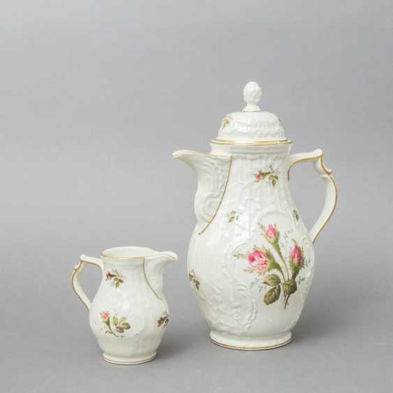 ROSENTHAL coffee service for 6 persons 'Sanssouci Rose', 20. Century - photo 5