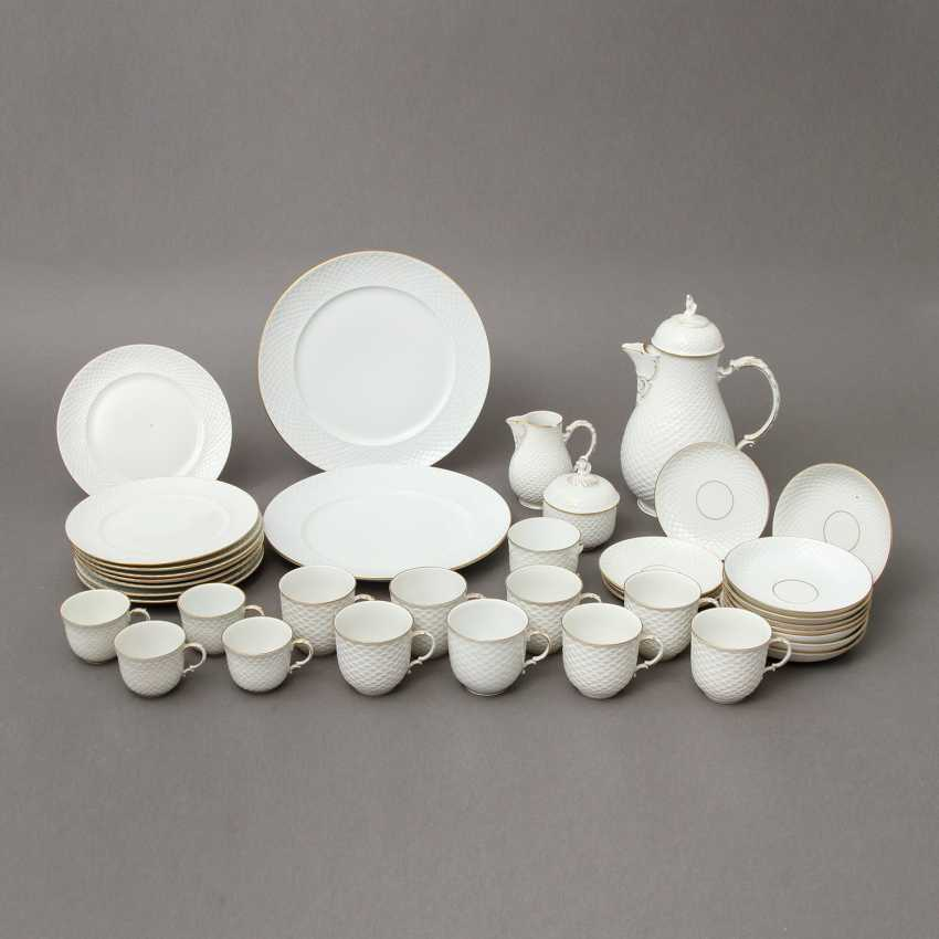 LUDWIGSBURG coffee service for 7 persons 'shed decor, Gold, 2. Choice, 20. Century - photo 1