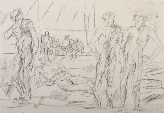 Henninger, Manfred Backnang 1894 - 1986 Stuttgart, Prof .. Convolute of figurative representations: 3-part: 1x '' Male nudes '' - photo 2