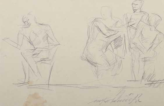 Henninger, Manfred Backnang 1894 - 1986 Stuttgart, Prof .. Convolute of figurative representations: 3-part: 1x '' Male nudes '' - photo 3