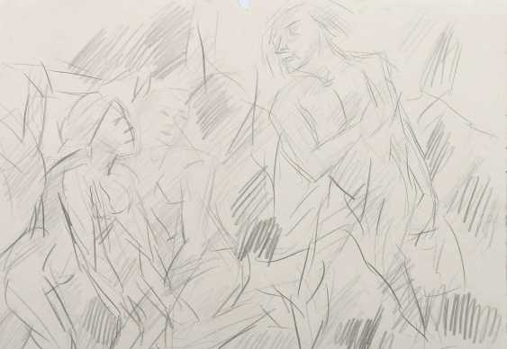 Henninger, Manfred Backnang 1894 - 1986 Stuttgart, Prof .. Convolute of figurative representations: 3-part: 1x '' Male nudes '' - photo 4