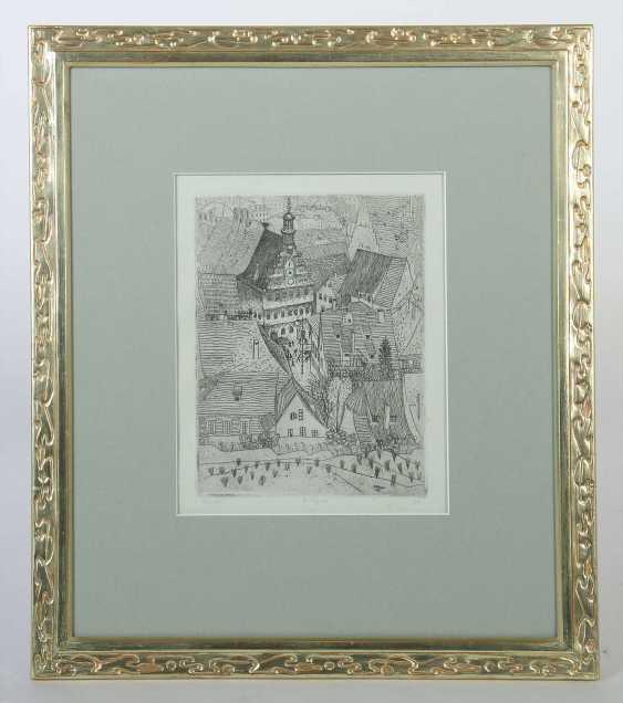 Nägele, Reinhold Murrhardt 1884 - 1972 Stuttgart, Stud. In Munich, Paris and Holland, painter and graphic artist in Stuttgart, co-founder of the Stuttgart Secession, Prof. '' Esslinger Dächer '' - photo 2