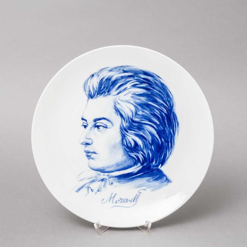 "MEISSEN wall plate ""Mozart"", 20. Century, 1. Choice. - photo 1"