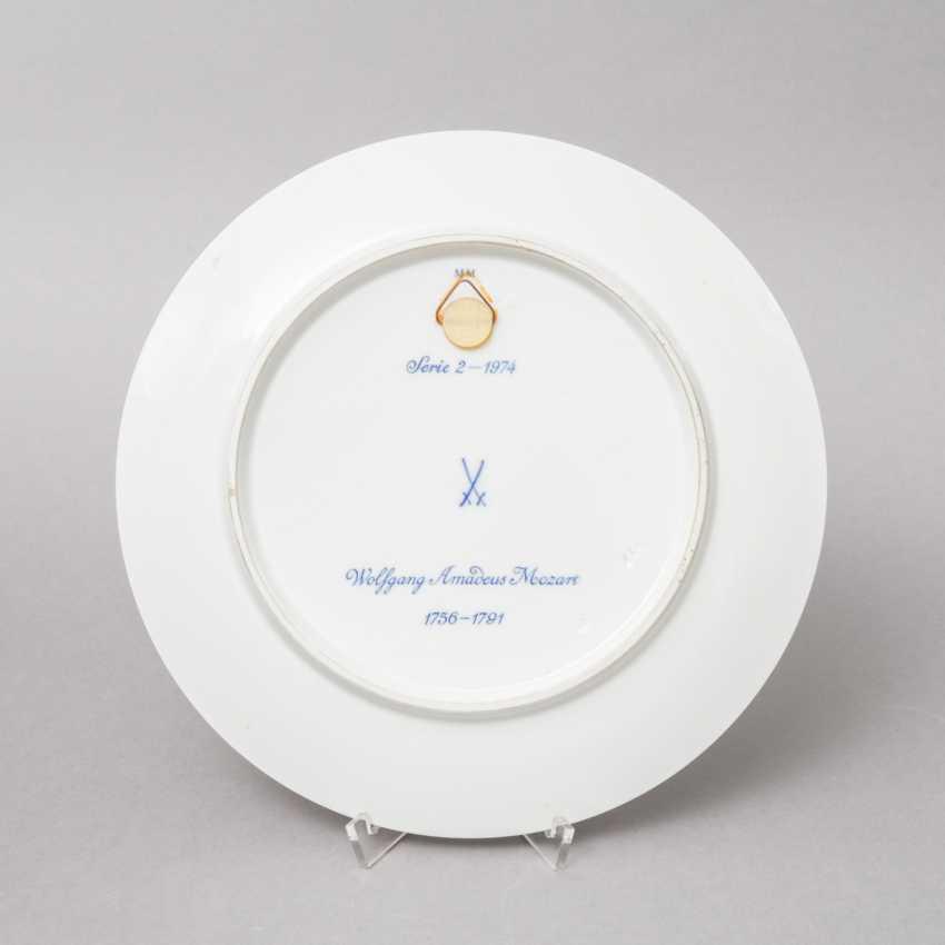 "MEISSEN wall plate ""Mozart"", 20. Century, 1. Choice. - photo 2"