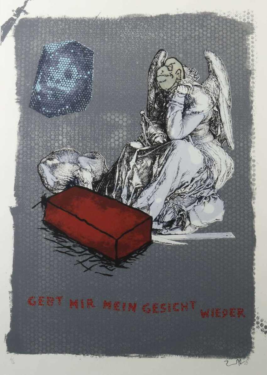 Immendorf, Jörg Bleckede 1945 - 2007 Düsseldorf, sculptor, painter and graphic artist. '' Give me my face back '' - photo 1