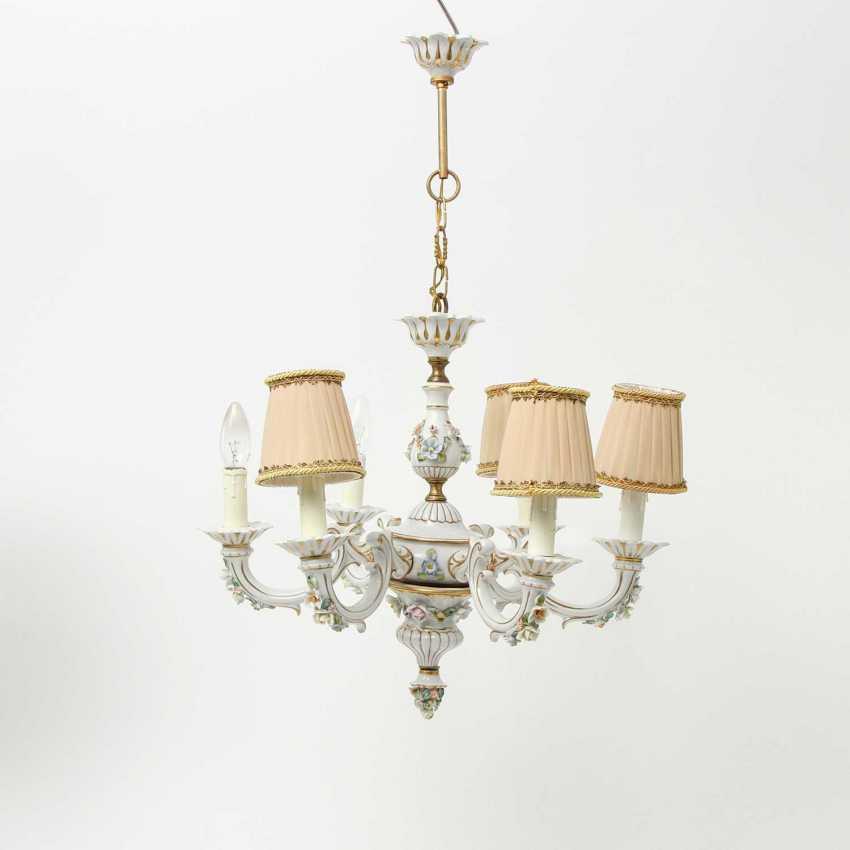 6-burner chandelier, 20. Century - photo 2