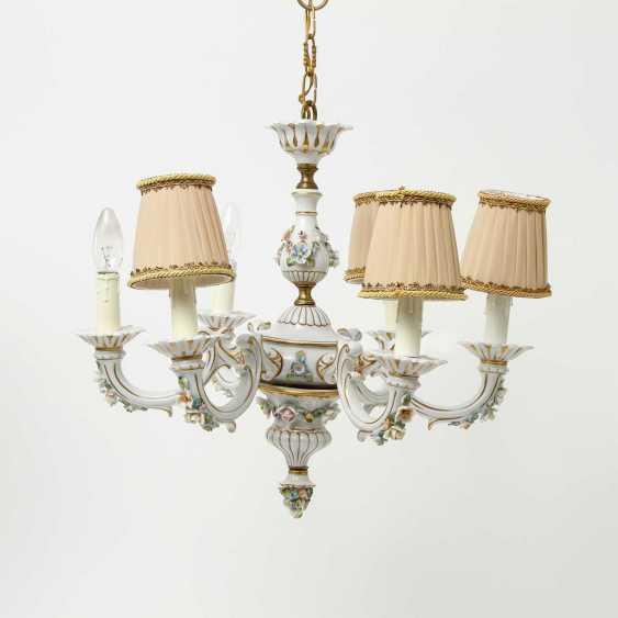 6-burner chandelier, 20. Century - photo 3