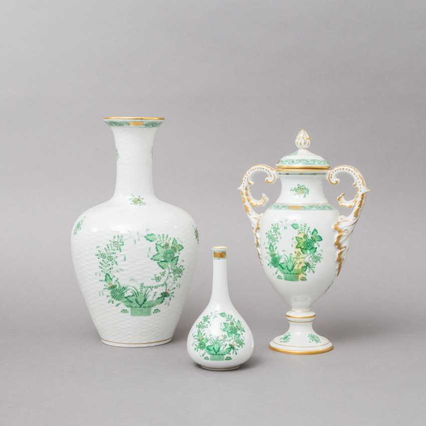 HEREND 3 vases, 20. Century, 1. Choice. - photo 1