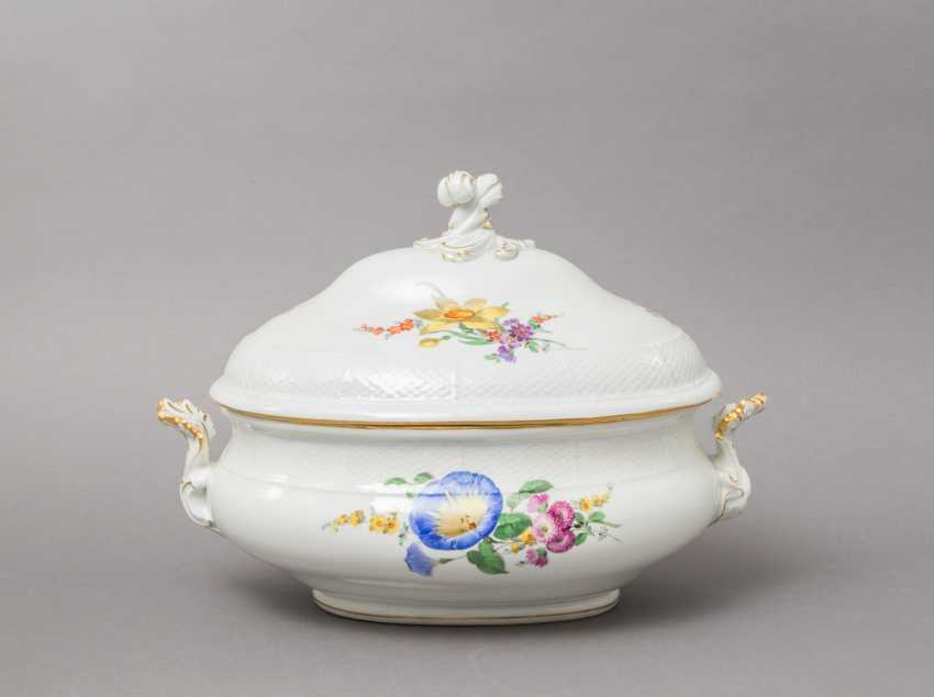 MEISSEN lid bowl, 19th century. / 20. Century, 2. Choice. - photo 1