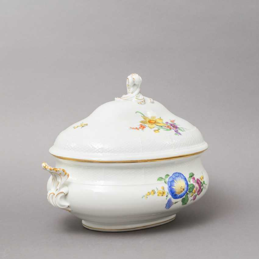 MEISSEN lid bowl, 19th century. / 20. Century, 2. Choice. - photo 2