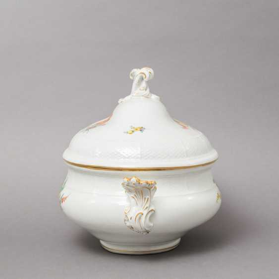 MEISSEN lid bowl, 19th century. / 20. Century, 2. Choice. - photo 3