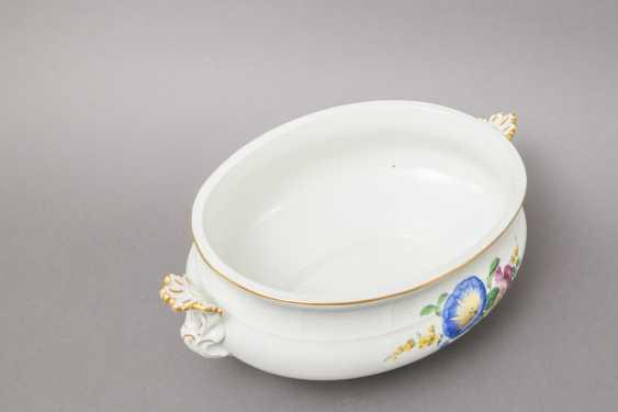 MEISSEN lid bowl, 19th century. / 20. Century, 2. Choice. - photo 4