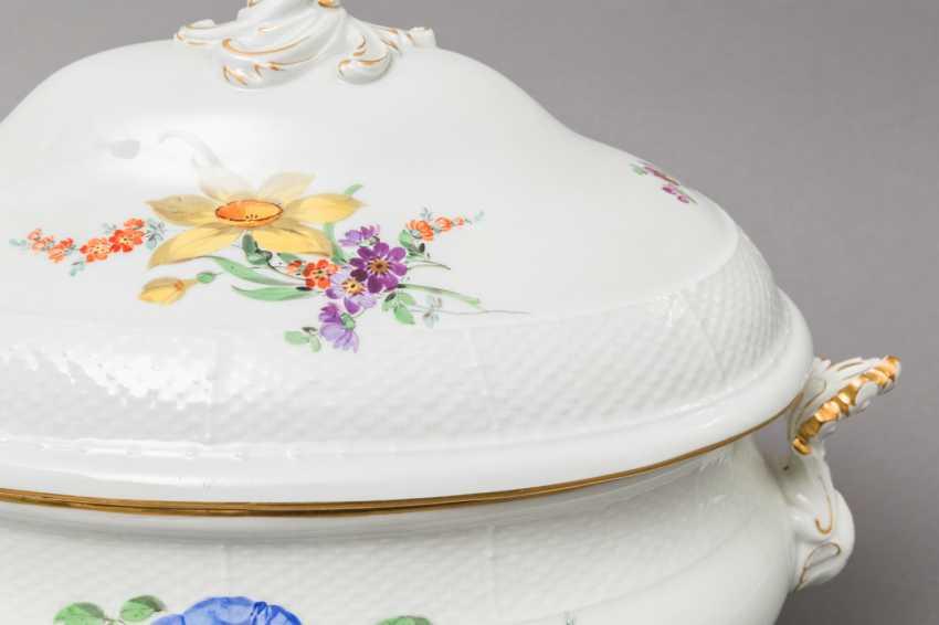 MEISSEN lid bowl, 19th century. / 20. Century, 2. Choice. - photo 5