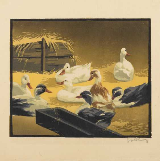 Indistinctly signed: ducks in the stable - photo 1