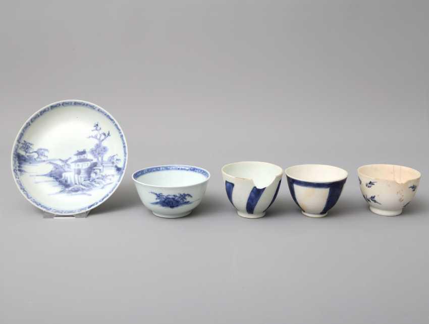 KonvoluTiefe: 5 teilig, unter anderem Zwei Teile NANKING CARGO Porzellan. CHINA, um 1753 - photo 1