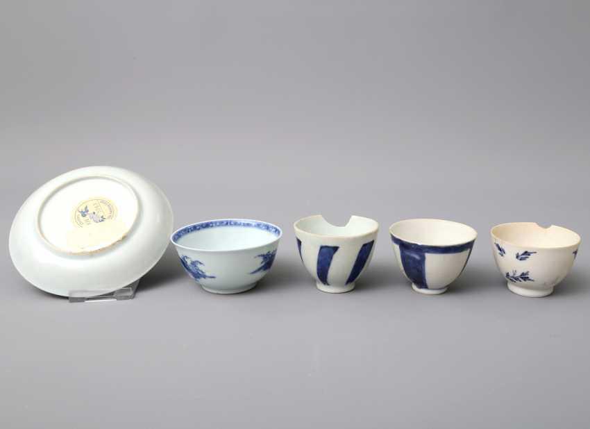 KonvoluTiefe: 5 teilig, unter anderem Zwei Teile NANKING CARGO Porzellan. CHINA, um 1753 - photo 3