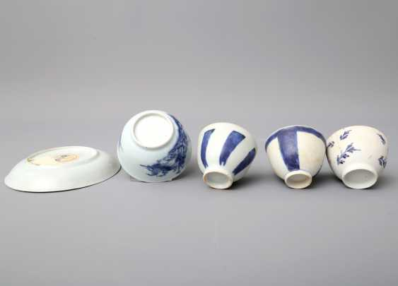 KonvoluTiefe: 5 teilig, unter anderem Zwei Teile NANKING CARGO Porzellan. CHINA, um 1753 - photo 6