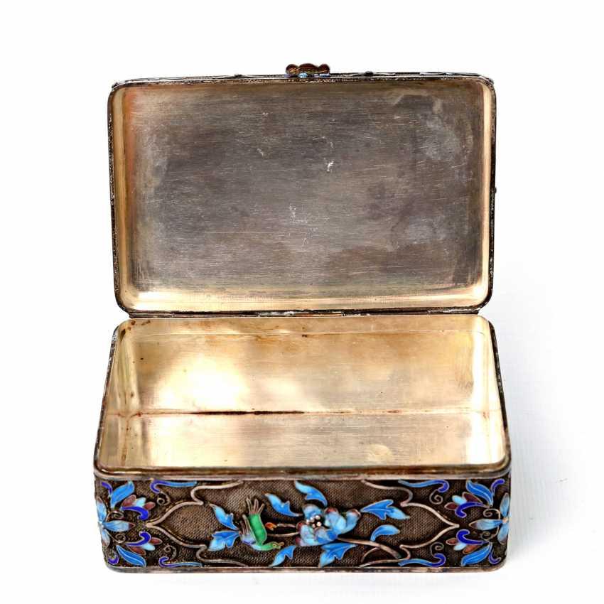 Fine box made of silver. CHINA, around 1920 - photo 6