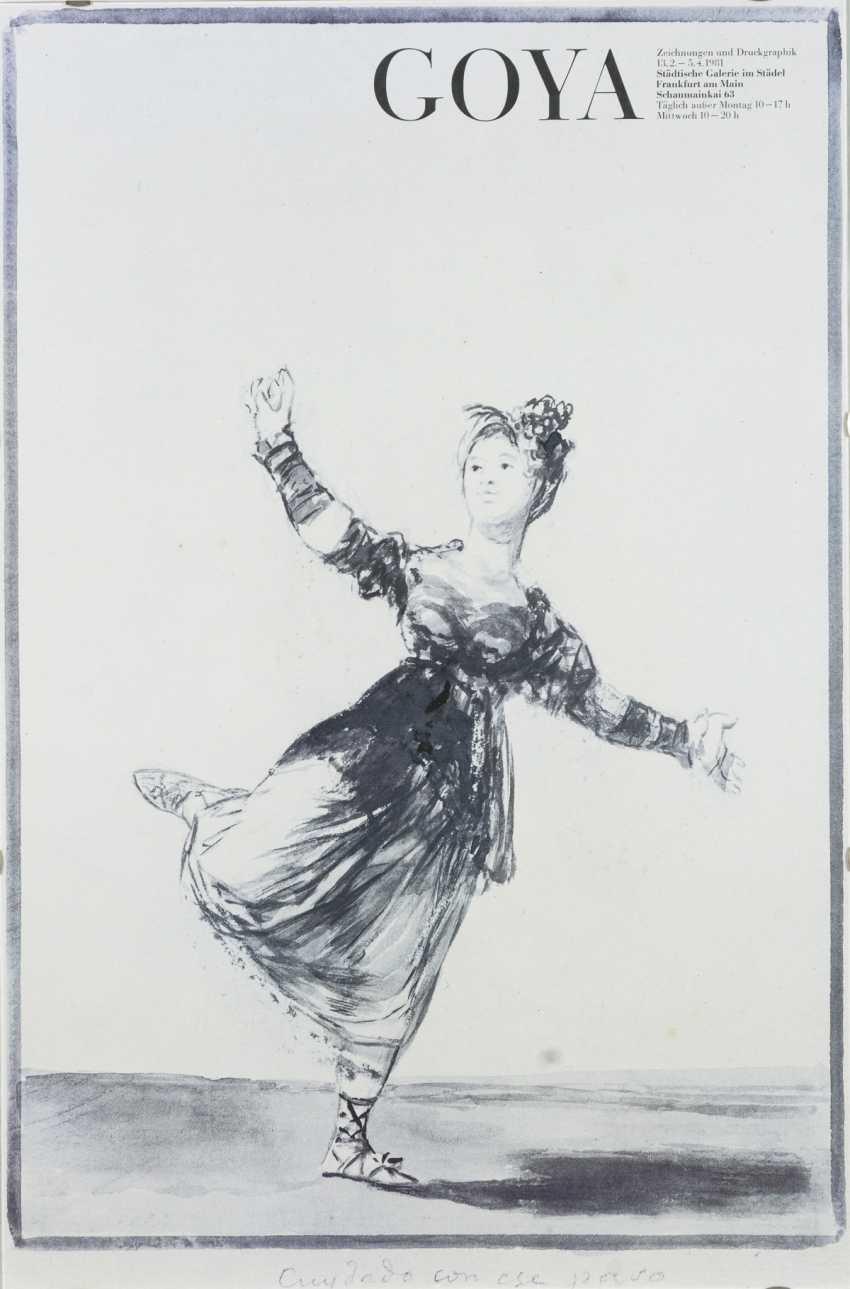 "Affiche d'exposition ""Goya - Dessins et estampes"" - photo 1"